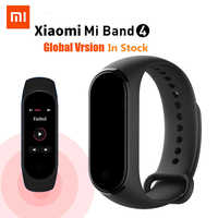 AUF LAGER Original Xiao mi mi Band 4 Musik Smart mi band 4 Armband Herz Rate Fitness 135mAh Farbe bildschirm Bluetooth 5,0 Armbänder