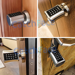 Image 2 - Bluetooh חכם צילינדר מנעול Keyless אלקטרוני מנעול דלת APP Wifi מנעול דיגיטלי קוד RFID כרטיס מנעול לבית דירה Airbnb