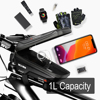 WILD MAN New Bike Bag Frame Front Top Tube Cycling Bag Waterproof 6.6in Phone Case Touchscreen Bag MTB Pack Bicycle Accessories 5