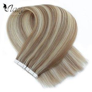 Image 3 - Vlasy 16 20 24 רמי קלטת שיער הרחבות פסנתר צבע ישר כפול נמשך Weft עור דבק קלטת תוספות
