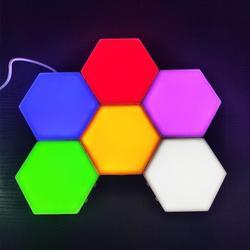 RGB Quantum lampa Led sześciokątne lampy modułowe dotykowe oświetlenie nocne światło magnetyczne sześciokąty dekoracje ścienne Lampara
