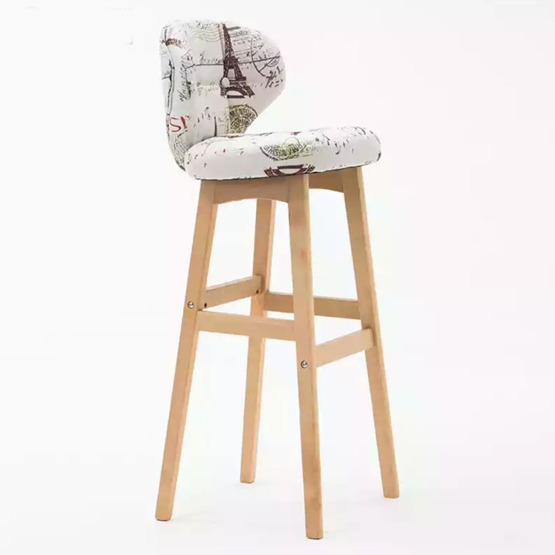 Nordic Barstool Bar Household Front Desk Modern Simple Creative Backrest High Stool Bar Counter Chair