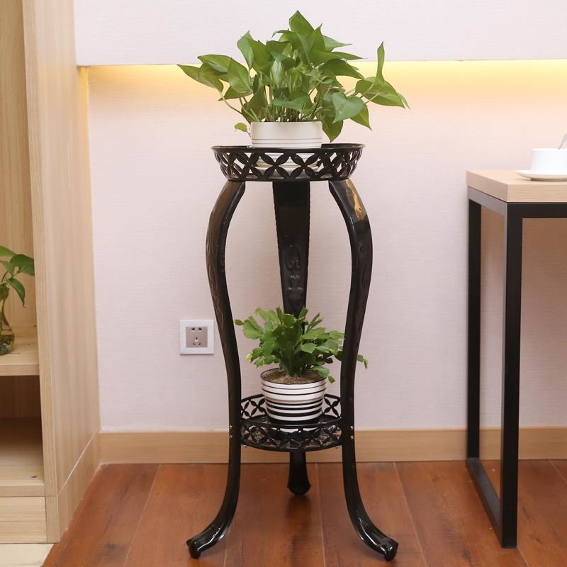 A Living Room Ground Shelf Style Flower Rack Iron Art Multi-storey Balcony Indoor Green Luo Flowerpot Chlorophytum