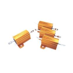 5 pces 390r 390ohm 390 39r 39ohm 39 r ohm 25w watt wirewound alumínio potência metal escudo caso resistência resistor rx24
