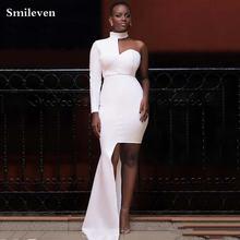 Smileven/сексуальное вечернее платье русалки с длинным рукавом;