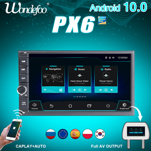 Universal PX6 car intelligent system 2 din radio android 10 screen car radio video players 2DIN for nissan Juke Qashqai X trail