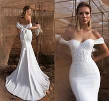 Сексуальные свадебные платья русалки с открытыми плечами 2020