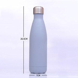 Image 3 - Logo bouteille Thermos personnalisée pour bouteilles deau Double paroi isolé flacon à vide tasse en acier inoxydable Sports de plein air Drinkware