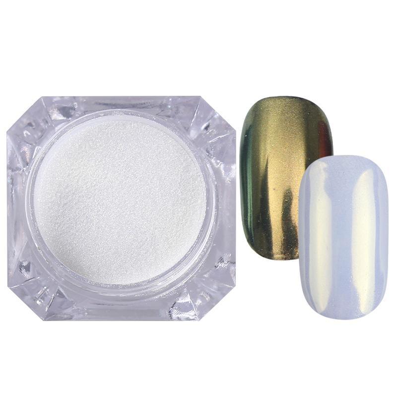 Rose Gold Bubble Mirror Powder Metallic Nail Glitter Holographics Chrome Dust Sparkling Flakes Pigment Manicur Nail Art Decor 54