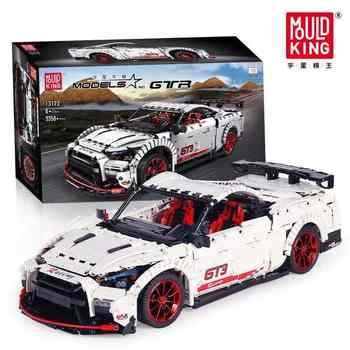 Série technique le Nismo Nissan GTR GT3 vitesse course Sport ensemble de voitures modèle blocs de construction briques enfants jouets ajustement Lepining MOC-25326