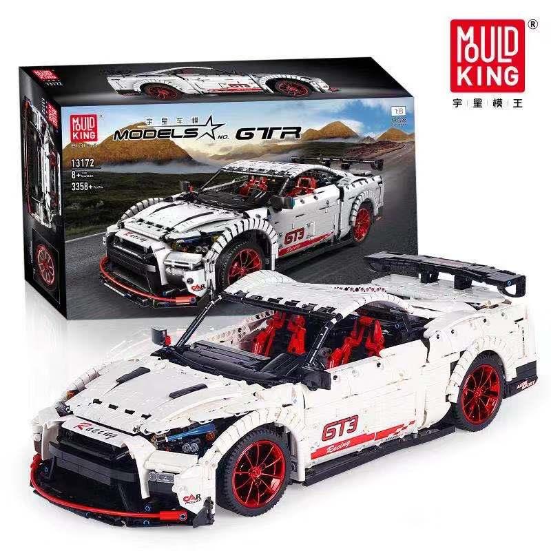 Technic Series The Nismo Nissan GTR GT3 Speed Racing Sport Car Set Model Building Blocks Bricks Kids Toys Fit Lepining MOC-25326
