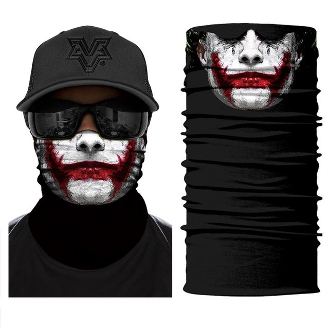 Motorcycle Face Mask Bicycle Skull Half Face Mask Ghost Scarf Multi Use Neck Summer 3