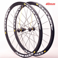 Latest high quality 40mm Original Hot sale 700C alloy V brake bike wheels BMX road bicycle wheelset road aluminum cosmic elite