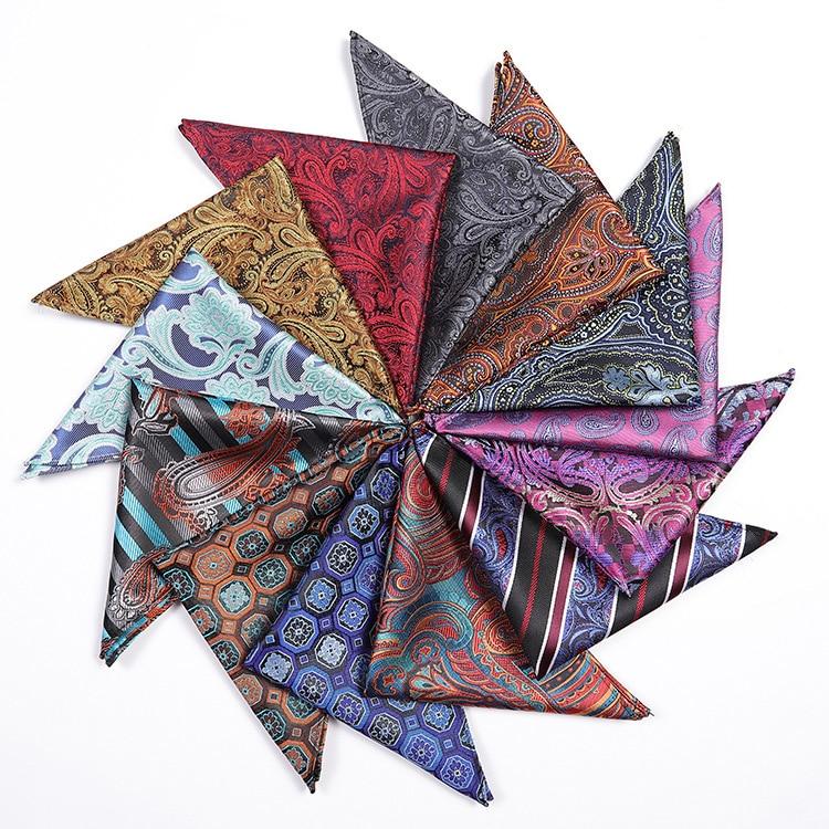 Men's Fashion Pocket Square Classic Ties Polyester Silk Gravata Striped Necktie Wedding Gifts For Men Tie Handkerchief