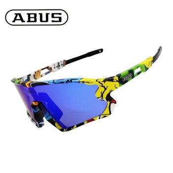 Abus 5 lente uv400 ciclismo óculos de sol tr90 esportes bicicleta mtb mountain bike pesca caminhadas equitação eyewear 1