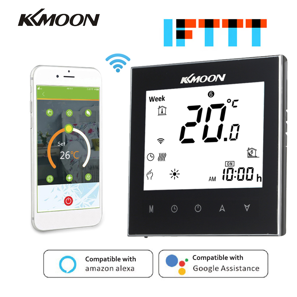 WiFi Smart Thermostat Temperature Controller For Water/Gas Boiler Heating Works With Google Home Voice Control Energy Saving