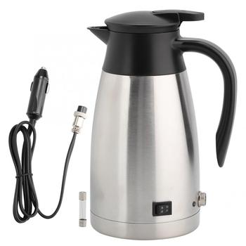 1000ml 12V 24V Electric Kettle In-Car Travel Trip Coffee Tea Heated Mug Portable Water Heating Cup car based heating stainless steel cup kettle travel trip coffee tea heated mug motor hot water for car or truck use 750ml 12v