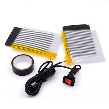 Motorcycle Electric Heating Handle Kit Heated Grip Pads+Heat Resistant Tape+Heat Resistant Covers Handlebar 12V   Pad wupp winter use motorcycle motocross atv heated handle grip 12v 2x15w warm hand grips handlebar grip with 11x9cm long heat sinks