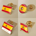 Герб Испании в карта Национальный флаг Эмблема с национальным цветочным брошь значки нагрудные знаки