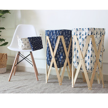 040Dirty Laundry Basket Laundry Basket Folding Laundry Hamper Folding Hamper Large Fabric Round Storage Basket Barrel Good New цена 2017