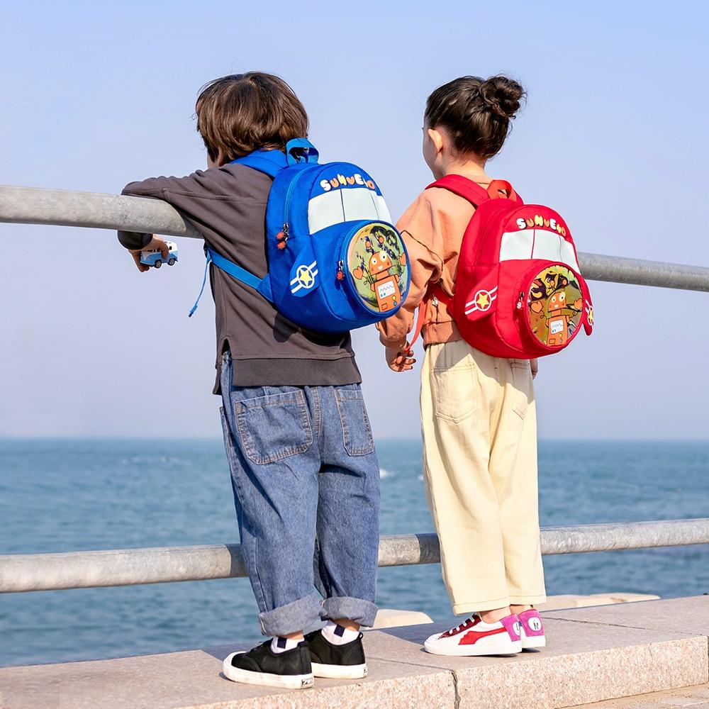 Sunveno 2020 Robot Plush Children Backpacks Kindergarten Schoolbag Kids Backpack Children School Bags Girls Boys Bag 1-5years