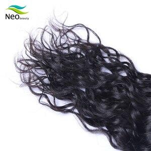 Image 5 - Neobeauty extensiones de cabello con mechones, pelo virgen birmano, ondulado natural