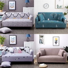 Elastic sofa cover 3 seater Slipcovers Sofa Covers For Living Room Spandex Cheap Sectional Couch Cover 1/2/3/4 Seater Stretch(China)