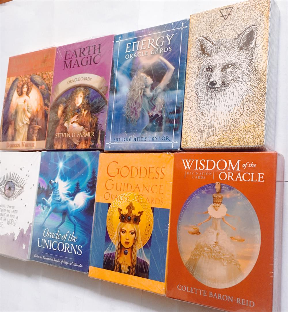 Full English Oracle Cards Board Game Tarot Deck Board Game Card Game Unicorn Archangel Goddess Animal Oracle Decks