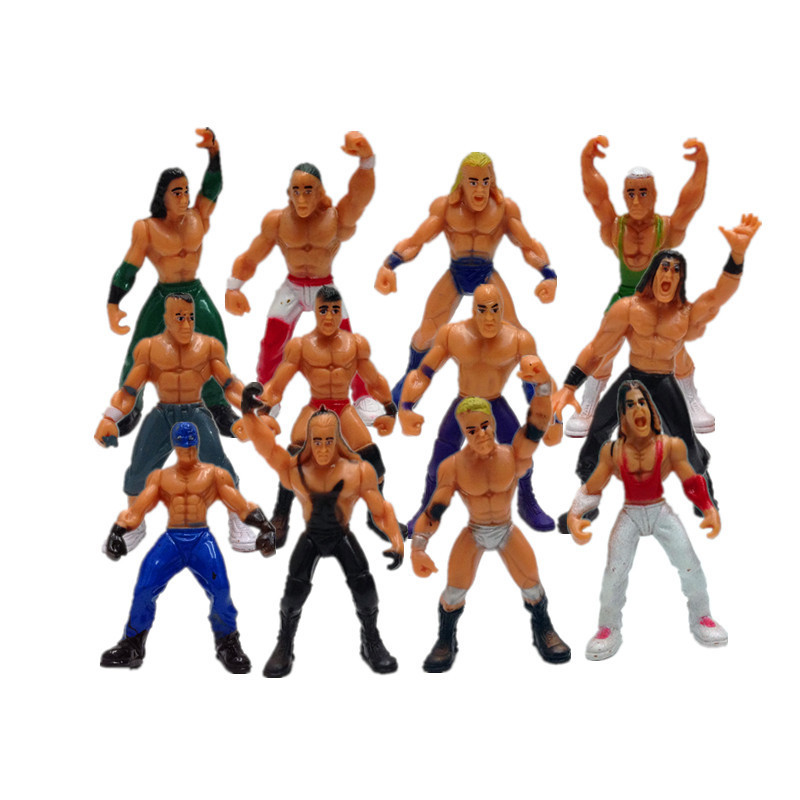 Cross-Border WWE Wrestler 12-Human Model Set Children's Play House Toy Ornaments Factory Wholesale