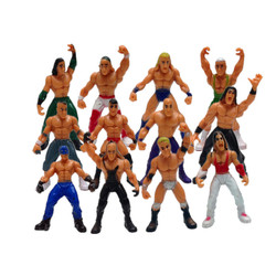 Cross-Border WWE Wrestler 12-Human Model Set Children's Play House Toy Ornaments Factory Wholesale