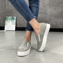 British leisure foot pedal waterproof platform thick-soled muffin loaf shoes large size couple jeans canvas single
