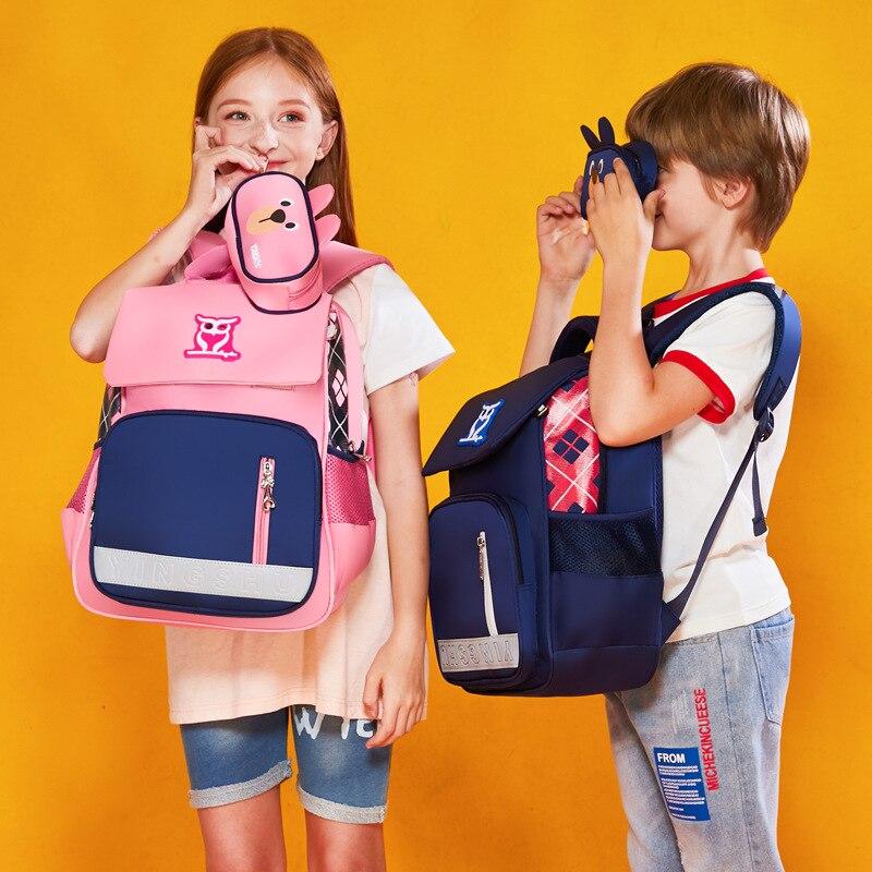 Корейский детский рюкзак, новинка 2019, сумка для начальной школы, мужская и женская сумка через плечо, британский стиль, Студенческая сумка C8