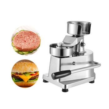 ITOP 100mm-130mm Manual Hamburger Press Burger Forming Machine Round Meat shaping Aluminum Machine Forming Burger Patty Makers emmababy summer newborn baby girl clothes sleeveless striped bowknot strap romper jumpsuit one piece outfit sunsuit clothes