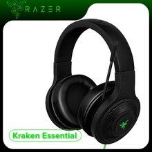 Razer Kraken 필수 헤드폰 소음 차단 오버 이어 유선 게임용 헤드셋 PC/노트북/전화 게이머 용 마이크가있는 아날로그 3.5mm