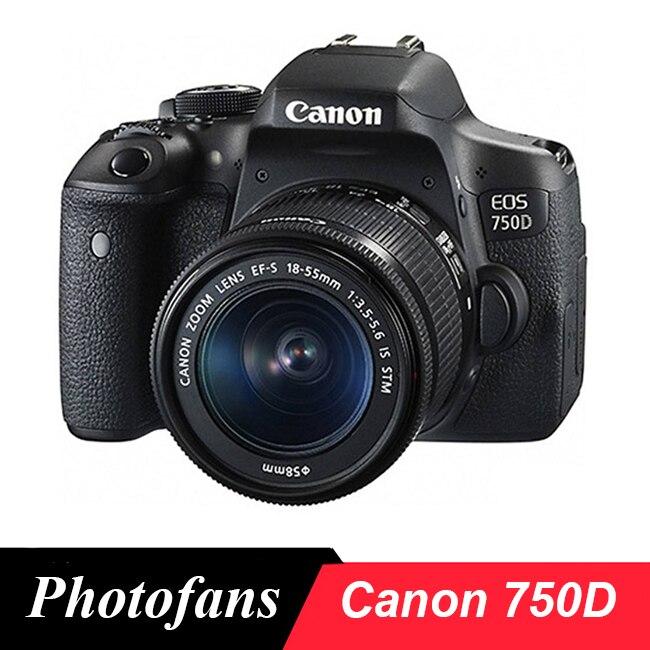 Canon 750D DSLR камера Rebel T6i с объективом Canon 18-55 мм