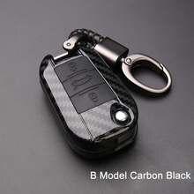 Чехол для автомобильного ключа из ПВХ и углеродного волокна, чехол с 3 кнопками для Peugeot 3008/508/2008 для Citroen C4l/ds6/c6/ds5, чехол для автомобильного кл...