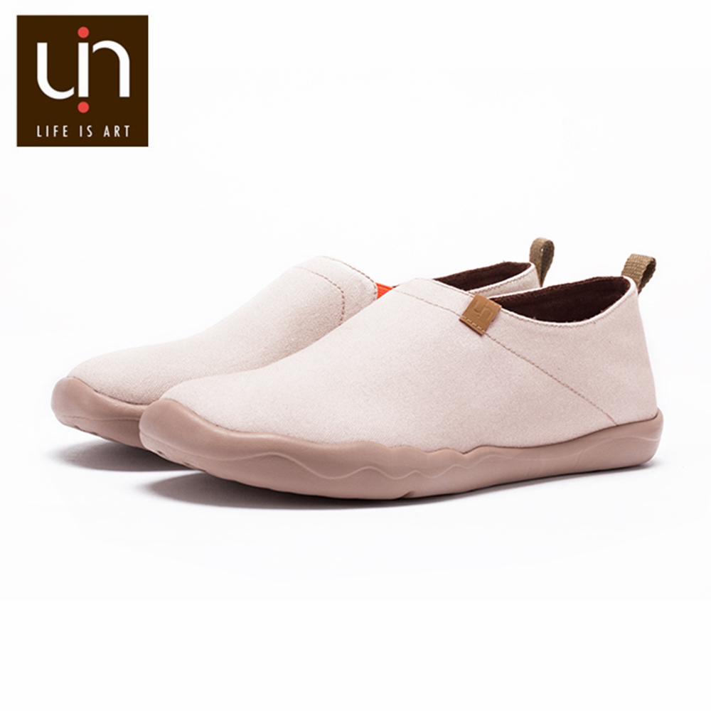 UIN Oak Design Women Casual Shoes Wide Feet Comfort Loafers Ladies Super Lightweight Soft Sneakers Round Toe Nurse Work Shoes