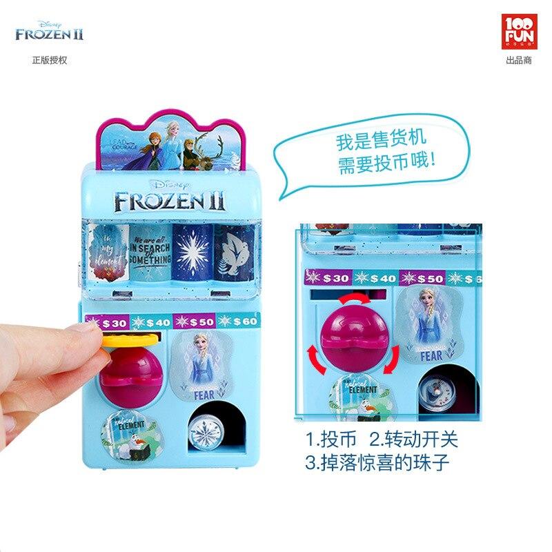Disney FROZEN II Elsa Anna Princess Girls Vending Machine Fashion Toys  Kids Beauty Simulation Candy Machine For Children Gift