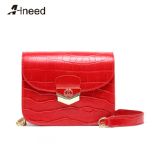 цена на ALNEED Bags for Women 2019 Genuine Leather Alligator Flap Small Shoulder Bag Chain Clutch Purse Crossbody Ladies Bolsa Feminina