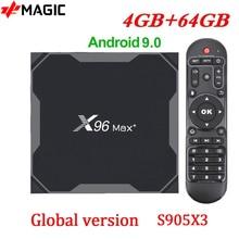 X96 מקס + חכם טלוויזיה תיבת אנדרואיד 9.0 טלוויזיה תיבת Amlogic S905X3 4GB 64GB 32GB 4K מדיה נגן 2.4/5G הכפול Wifi X96 מקס בתוספת סט Top Box