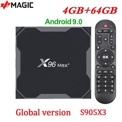 Смарт ТВ -бокс X96Max Plus Android 9,0 Amlogic S905X3 4 Гб 64 Гб 4K медиаплеер X96 Max + Smart TV Dual Wifi 4 Гб RAM 32 Гб телеприставка