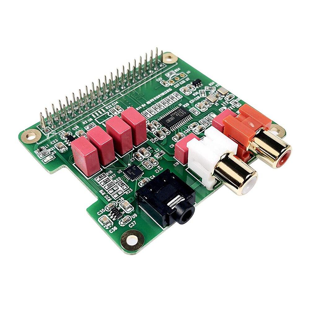 Mini PCM5122 Music Player HiFi DAC Sound Module 384KHZ  Audio Card Expansion Board 32Bit For Raspberry Pi 3B With LED Indicator
