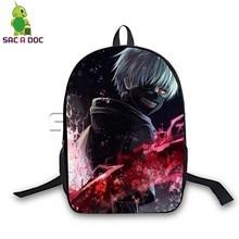 цены Hot Anime Tokyo Ghoul: Backpacks for Teenagers Girls Boys Daily Laptop Backpack Kaneki Ken Cosplay School Travel Backpack