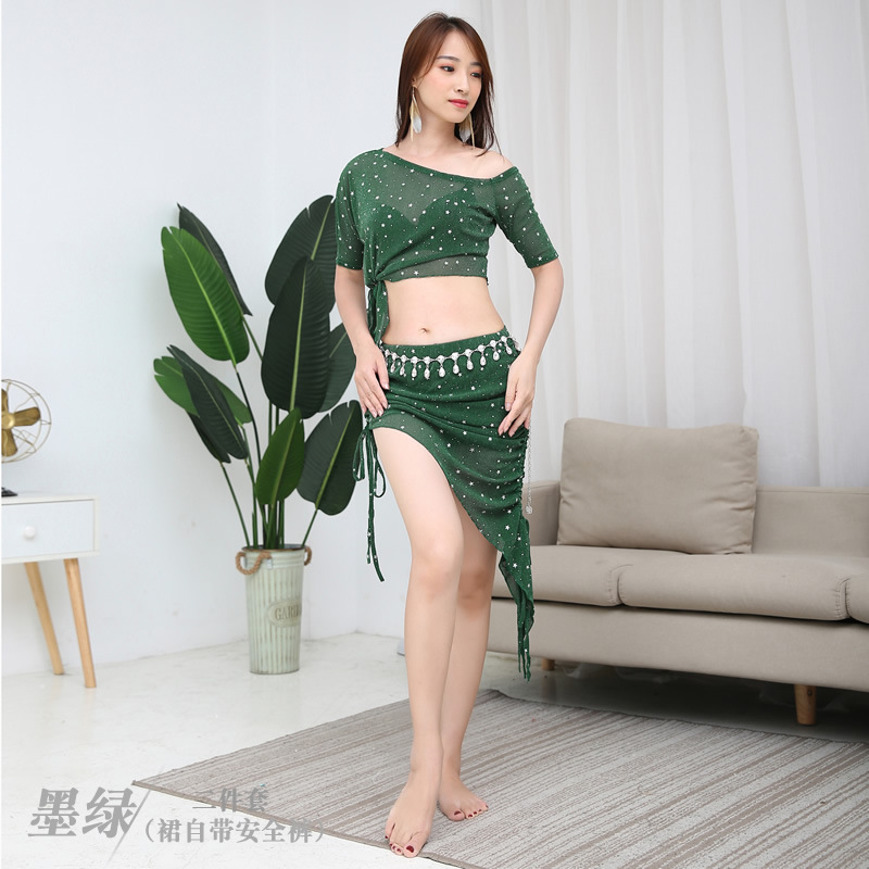 Sexy Long <font><b>Sleeve</b></font> Eastern Oriental <font><b>Belly</b></font> Dance Lady Sequins Top <font><b>Shirt</b></font> Costumes Women <font><b>Belly</b></font> Dancing Clothes Group Training 5512 image