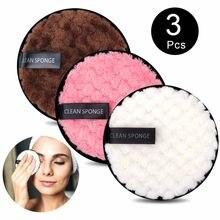 Tampon de coton bouffant réutilisable, démaquillant, microfibre, soins du visage, lingettes lavables, nettoyage du visage, Double couche