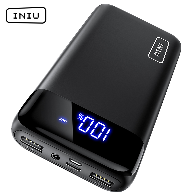 INIU Power-Bank External-Battery-Charger Led-Display Mobile-Phones Portable Charging title=