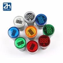 10pcs 22 millimetri Ac 60-500v Led Voltmetro del Tester di Tensione Indicatore Pilot Luce Rosso Giallo Verde Bianco blu