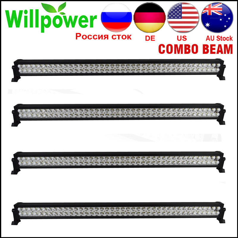 4 pcs 12v aluminum housing 42 inch 240W 4x4 work driving <font><b>light</b></font> <font><b>car</b></font> <font><b>offroad</b></font> <font><b>led</b></font> <font><b>light</b></font> bar 24v for truck image