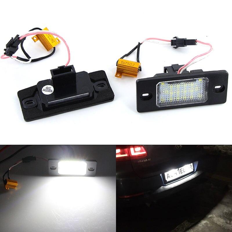 2 шт. светодиодный номерной знак Светильник лампы ошибок 1J5943021D 1J5943021A для VW Bora Golf 4 5 универсал Passat Tiguan Touareg Mk1