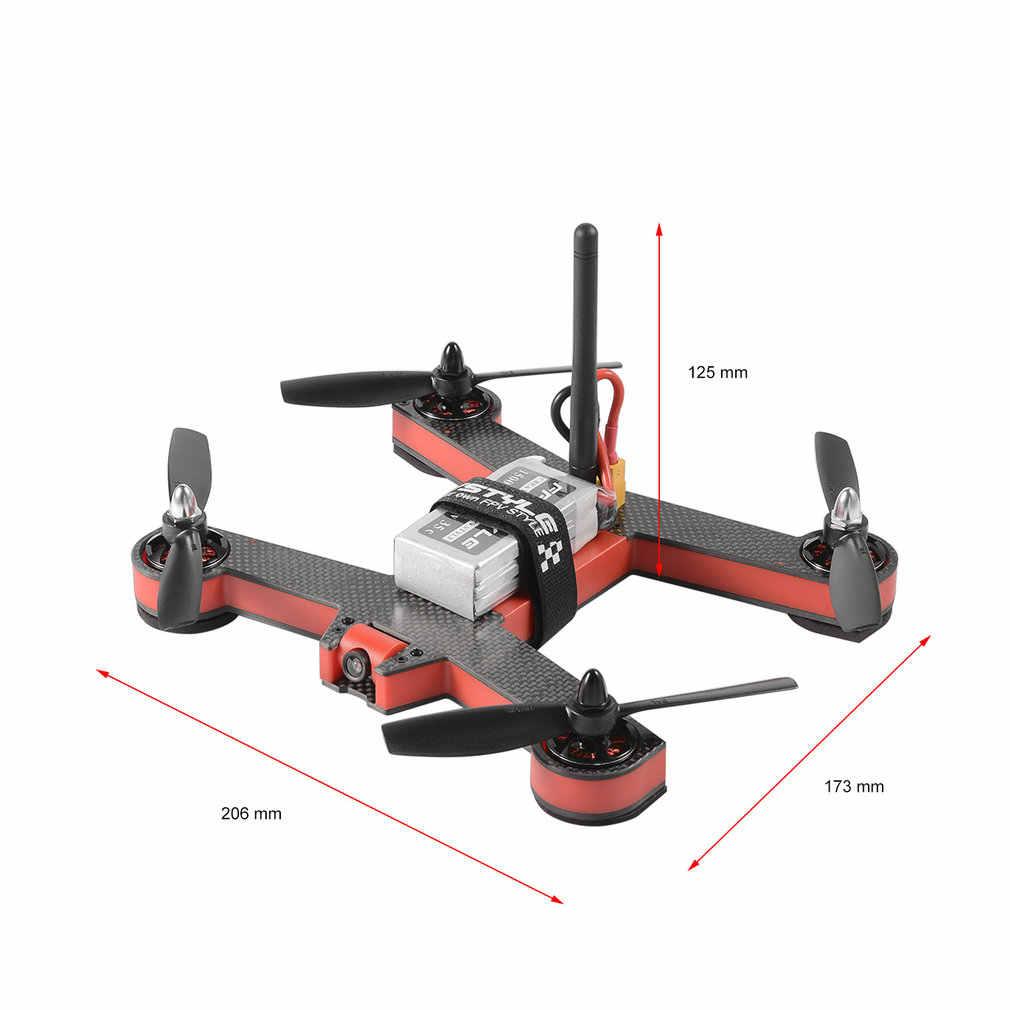 طائرة Fov 5.8g 8 قنوات 2204 موتور 700 Tvl Fpv سباق بدون طيار ل 220 ألياف الكربون الإطار أقل الأسلاك 90 درجة زاوية عرض أحمر